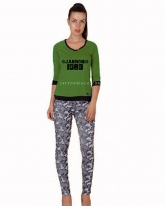 Camouflage Girls Cotton Jeans