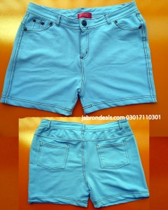 Girls Denim Stretchable Shorts