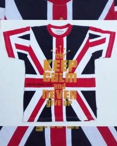 UK Flag Live Like A King T Shirt