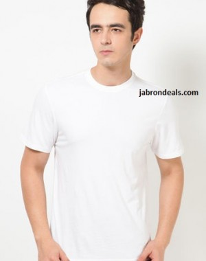 Mens Round White T Shirt