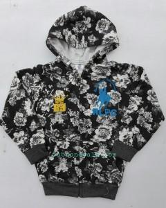 Kids RLPC black and white flowers hoodie