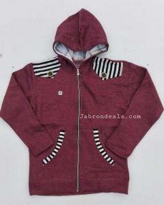 Kids shoulder striped style hoodie