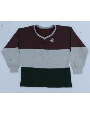 Kids 3 striped polo logo sweat shirts