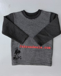 Kids RLPC round neck striped sweatshirts