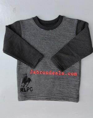 Kids RLPC round neck striped sweatshirts