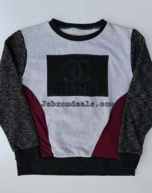 Channel round neck kids sweatshirts