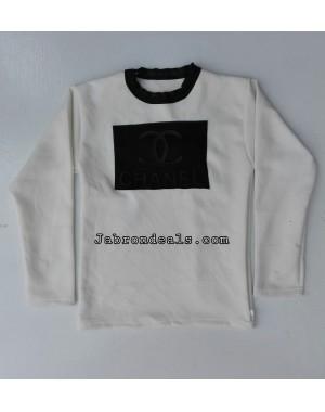 Channel bomber polyester kids sweatshirt