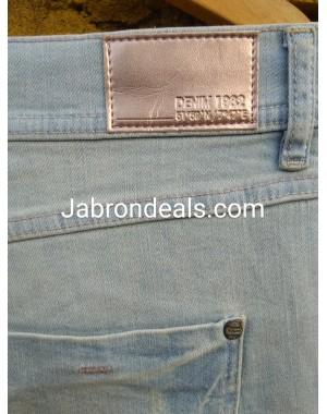 Light Blue Denim 1982 Ladies Rough Stretch Jeans