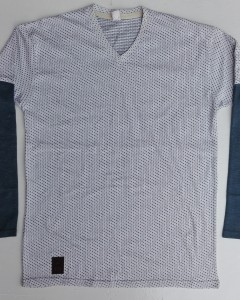 Mens doted full sleeve V neck shirt