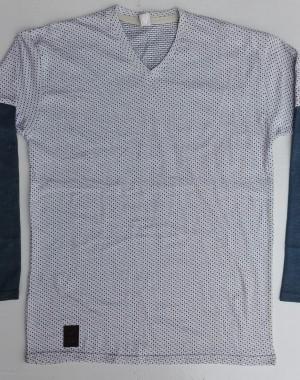 Mens doted full sleeve V neck shirt