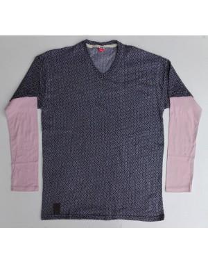 Mens full printed V neck full sleeves shirt