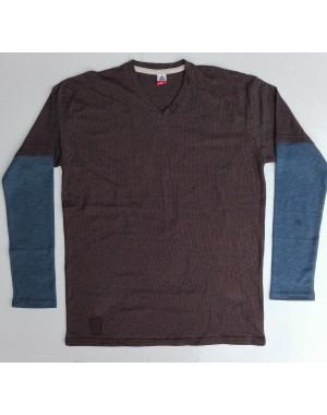 Mens fulldot printed V neck full sleeves shirts