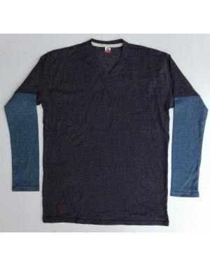 Mens full little dot printed full sleeve V neck shirt