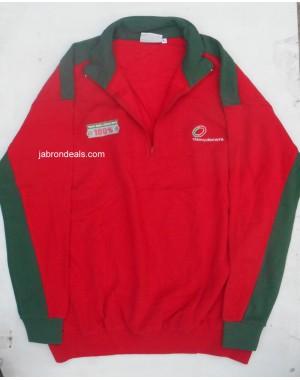 Red Full Sleeve Polo T Shirt Clancydocwra
