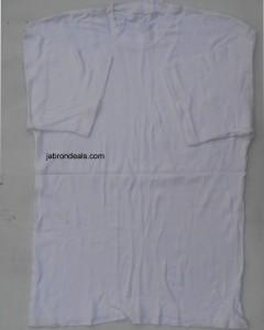 Mens Round White T Shirt