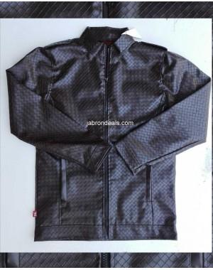 mens snake style leather jacket