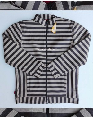 Mens striped leather jacket