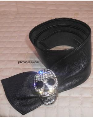 Black Leather Belt Stylish Buckle