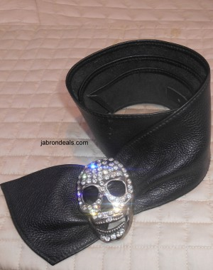 Black Leather Belt Stylish Buckle