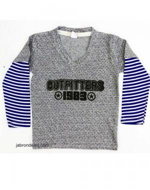 Outfitter V neck full sleeves shirt