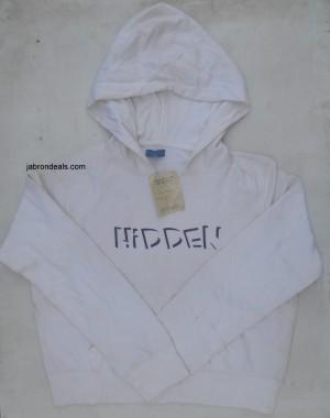 Girls White hood