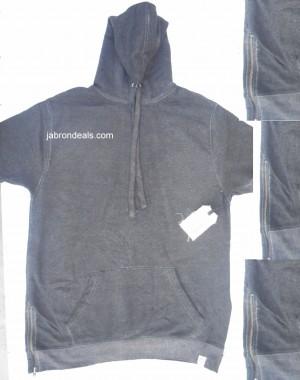 Mens Half Sleeve Dark Gray Hood