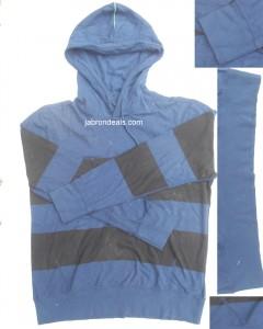Mens Blue N Black Hood